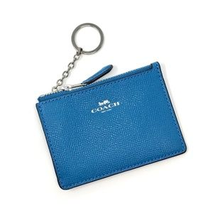 COACH Card Skinny Keychain ID Wallet Blue